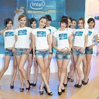 Áo thun quảng cáo Intel